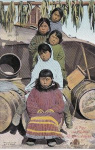 Alaska Row Of Eskimo Children sk2991