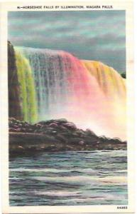 Horseshoe Falls by Illumination - Niagara Falls.