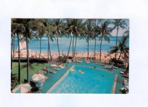 Swimming Pool, Waikiki Beach Outrigger Hotels, Honolulu, Hawaii,  50-70s