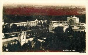 1920s San Diego California Balboa Park aerial View RPPC Real photo 330