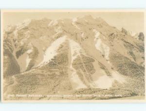 1950's rppc SKIING - MOUNT NORQUAY DOWNHILL SKI SLOPES Banff Alberta AB W0931