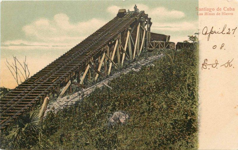Santiago De Cuba Mine Train Las Minas De Hierro 1908