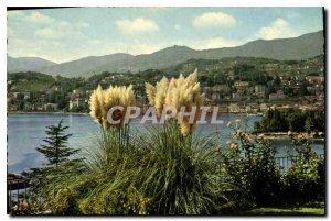 Postcard Modern City and Lake Lugano