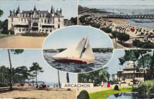 5-Views, Pier, Sailboat, Casino, Etc., ARCACHON (Gironde), France, PU-1960