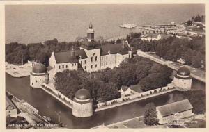 RP; Aerial View, Vadstena, Slottet fran flygplan, Sweden, 20-30s