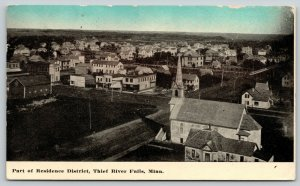 Thief River Falls MN Church @ Edge of Town in Residential Neighborhood~PC 1914