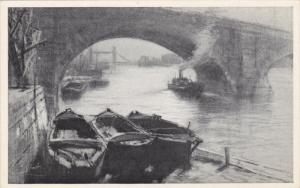 London Bridge , England , 00-10s Charcoal Sketch postcard