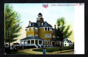MA Lowell MASS Highland Club Massachusetts 1906 UDB Postcard
