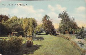 View Of South Park, QUINCY, Illinois, 1900-1910s