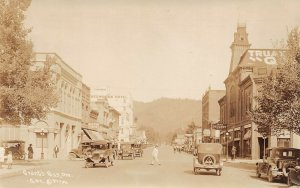 LPS92 Grant's Pass Oregon Town View Store Fronts Postcard RPPC