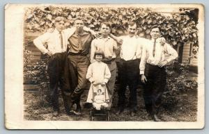RPPC I Guess Your Daughter Can Come, Too, And Bring Her Dolly & Buggy~c1914 PC