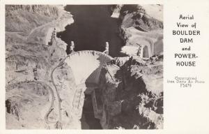 RP: Aerial View of BOULDER DAM and Powerhouse, Nevada, 30-40s