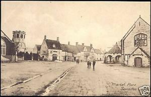 somerset, SOMERTON, Market Place (1910s)