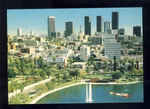 Los Angeles, California/CA Postcard, View From MacArthur Park, Near Mint!