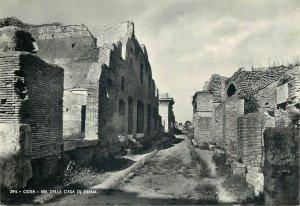 cartolina Italy Ostia via della cassa di Diana