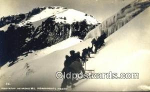 Montanas Nevadas Del Ixtaccihuatl, Mexico Winter Sports Postcard Post Card Ol...