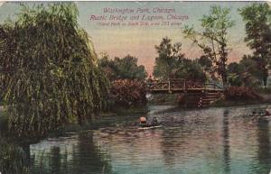 Illinois Chicago The Rustic Bridge and Lagoon In Washington Park