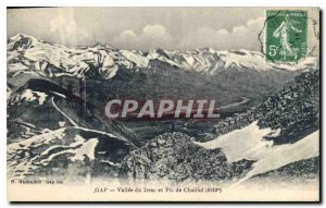 Postcard Old Gap Valley Drac and Pic de Chaillot