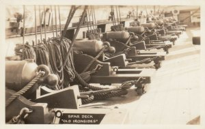 RP; OLD IRONSIDES, Spar Deck, 1920-40s; Canons