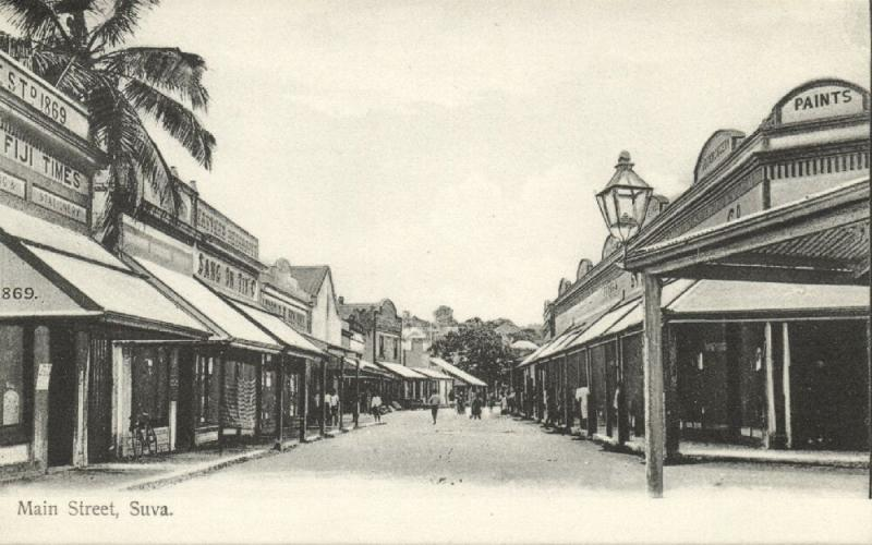 fiji islands, SUVA, Main Street, Shops (1910s) Gus. Arnold