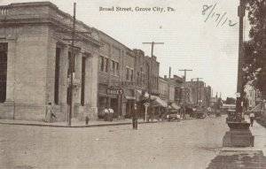 GROVE CITY , Pennsylvania, 1900-10s ; Broad Street