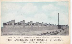 Indiana Peru The American Stationery Company 1928