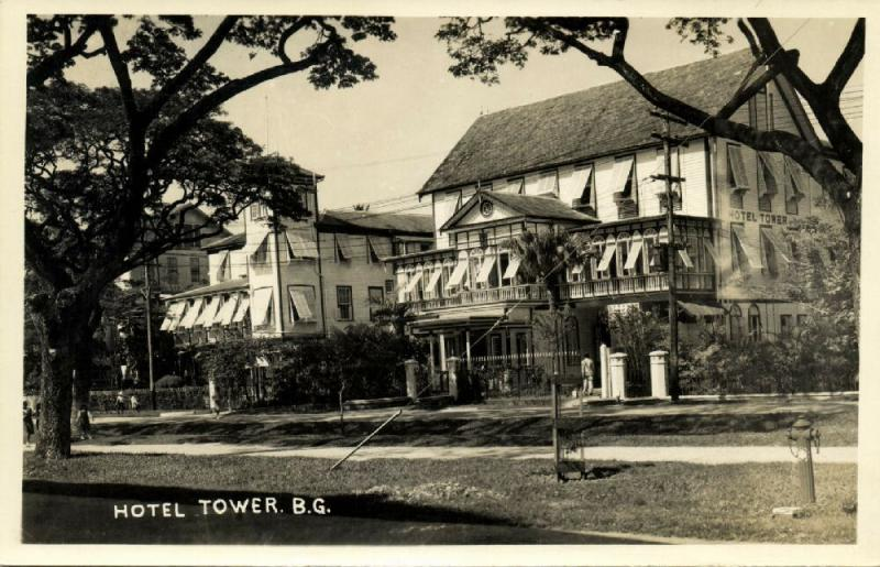 british guiana, GEORGETOWN, Hotel Tower (1941) RPPC
