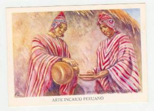 Arte Incaico Peruano, Artist Miguel GIRBAU,Indios Bebiendo Chicha, 1950-60s