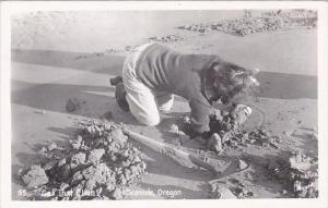 Oklahoma Seaside Get That Clam 1954 Real Photo RPPC