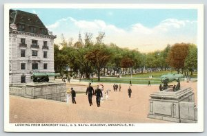 Annapolis Maryland~US Naval Academy~Midshipmen on Steps of Bancroft Hall~1920s
