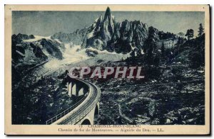 Old Postcard Chamonix Railway Montenvers Aiguile of Dru