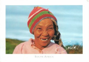 Postcard Ethnic South africa smile johannesburg woman old