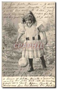 Old Postcard Fun Children Soccer Ball