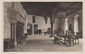 RP: Interior View of Dining Room, Grande Cuisine en 1439, Chateau de Chillon,...