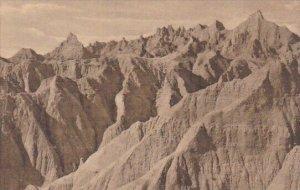 Southeast View Of The Pinnacles Badlands Nat Monument South Dakota Albertype
