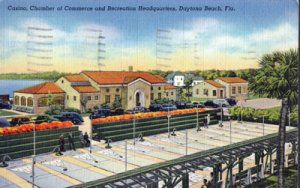 Daytona Beach -  shuffleboard courts and Recreation Headquarters , 1930s
