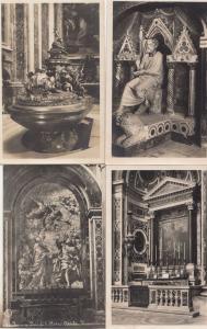 Rome Attila Bassorilievo Font Battesimale Statue of San Pietro 4x Old Postcard s