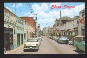 NOGALES SONORA MEXICO DOWNTOWN STREET SCENE 1950's CARS VINTAGE POSTCARD