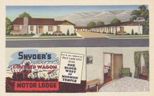 Snyder's Covered Wagon Motor Lodge , Salt Lake City , Utah , 30-40s
