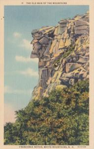 New Hampshire Franconia Notch The Old Man Of The Mountains 1938 Curteich