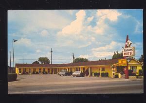 WILLIAMS ARIZONA ROUTE 66 WESTERNER MOTEL 1960's CARS ADVERTISING POSTCARD