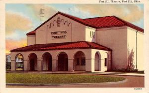 Fort Sill Oklahoma~Theatre~Living at Lawton~Working at PX in Sill~1953 Postcard