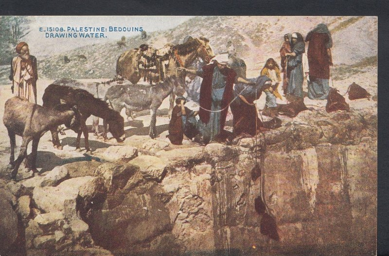 Middle East Postcard - Palestine - Bedouins Drawing Water  DC709