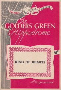 King Of Hearts Golders Green Hippodrome Comedy Theatre Programme