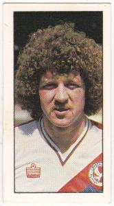Trade Cards Geo. Bassett FOOTBALL 1980-81 No 25 Mike Flanagan (Crystal Palace)