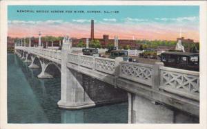 Illinois Aurora Memorial Bridge Across Fox River