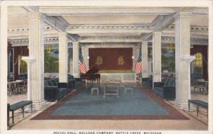 Michigan Battle Creek Social Hall Kellogg's Company 1927 Curteich