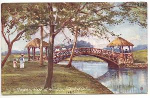 Hawaii Park at Waialua, Island of Oahu Raphael Tuck Postcard