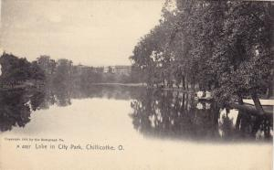 Lake in City Park , Chillicothe , Ohio , 1900-10s