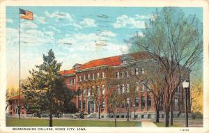 Sioux City Iowa Morningside College Street View Antique Postcard K50035
